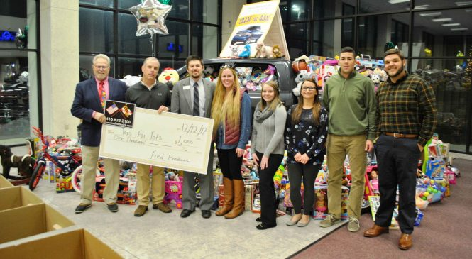 Fred Frederick Chrysler Dodge Jeep Ram Continues as Primary Sponsor  of Talbot County Young Professionals Toys for Tots Campaign