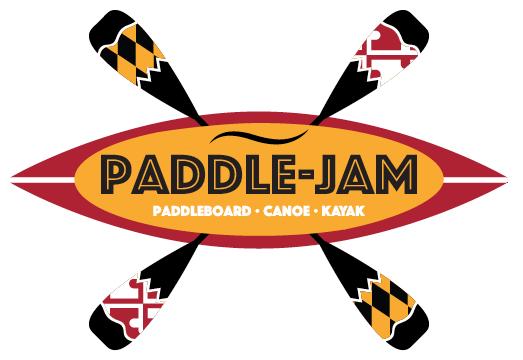 Paddle-Jam logo; paddleboard · canoe · kayak
